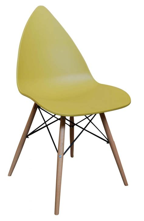 leaf dining chair mustard yellow