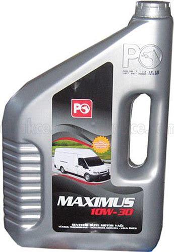 petrol ofisi maximus   lt  motor yagi