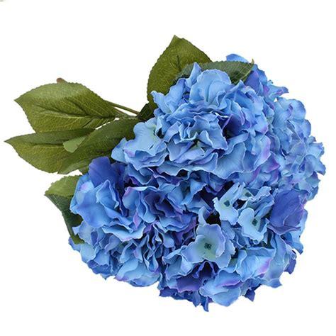 Hydrangea Silk Flower Bouquet 1 artificial silk hydrangea bouquet 5 flowers