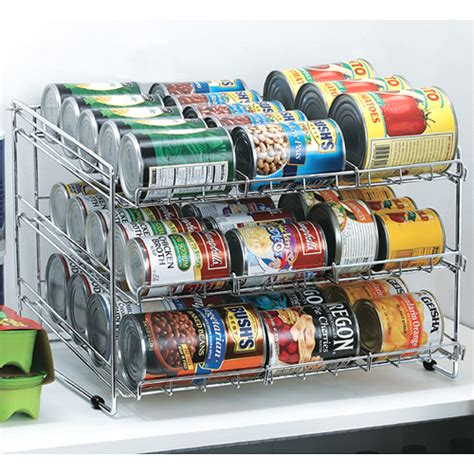 Can Rack Organizer by Chrome Wire Can Storage Rack In Can Storage