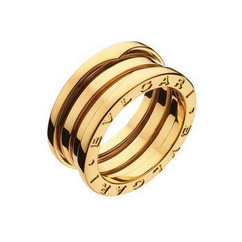 bvlgari 18k yellow gold bulgari bzero1 3 row wedding band ring bulgari yellow gold quot b zero1 quot 3 band ring betteridge