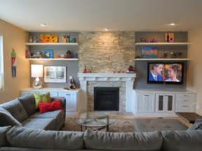 Living Room Makeovers With Fireplace Fireplace Contemporary Living Room