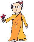 imagenes flores gif gif monje budista con ramo de flores gifs e im 225 genes animadas