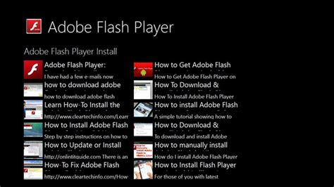 adobe flash player for pc adobe flash player guide for windows 8 and 8 1