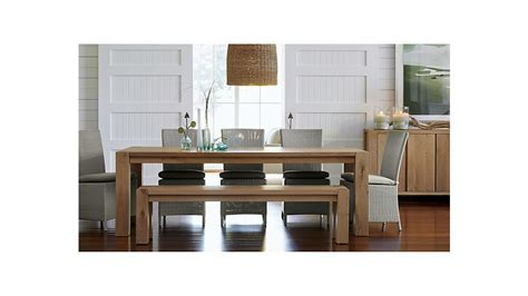 dining room tables crate and barrel big sur 65 quot dining table crate and barrel