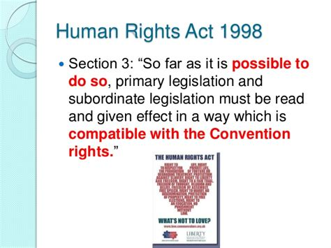 human rights sections statutory interpretation