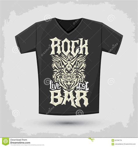 design t shirt rock vector silkscreen cartoons illustrations vector stock images