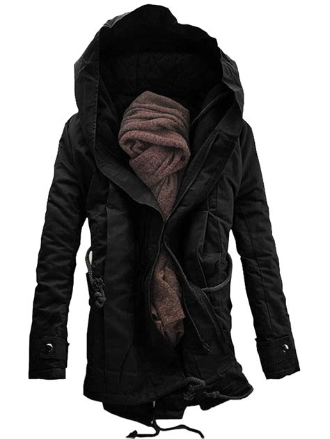 Decorative Outdoor Ashtrays For Home by Coats Black L Hooded Double Zip Up Padded Parka Coat