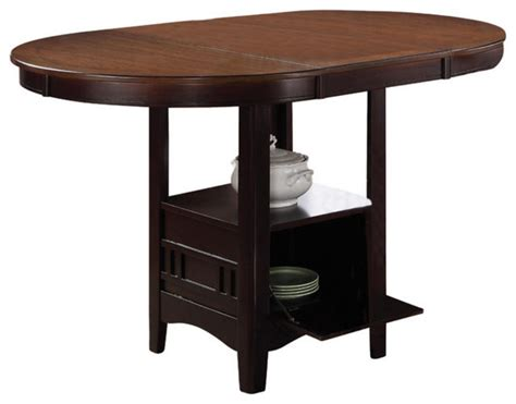 Japanese Dining Table Height Coaster Counter Height Table In Light Oak Espresso Finish 105278 Asian Dining Tables By