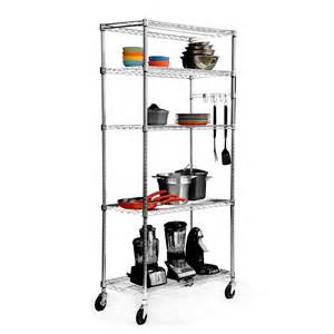 wire shelving with wheels tbfz 0906 ecostorage 5 tier wire shelving rack