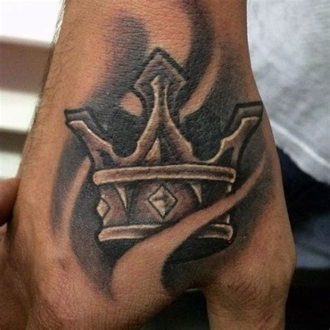 hand tattoo designs for boys picture of b w crown
