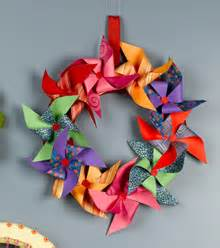 Pretty Craft Paper - pretty paper pinwheel wreath favecrafts