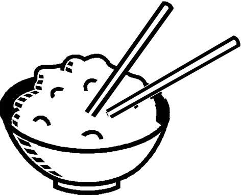 Bowl Of Rice Black White Line Art Tatoo Tattoo | rice clipart black and white clipart panda free
