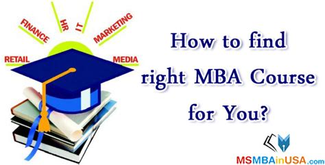 Different Mba Courses In Usa by How To Find Right Mba Course For You