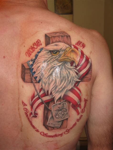 eagle cross tattoo eagle and cross marine corps tattoos tattoomagz