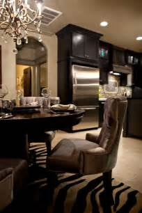 Kitchen Cabinets In Dining Room Black Kitchen Cabinets Contemporary Dining Room Vici Interiors
