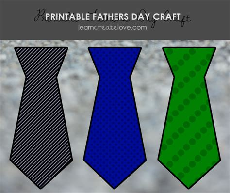 printable fathers day ties printable s day tie craft