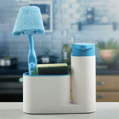 Bathroom Bottle Storage Multifunctional Bathroom Kitchen Sink Tidy Organzier Cosmetics Storage Box 450ml Liquid Soap
