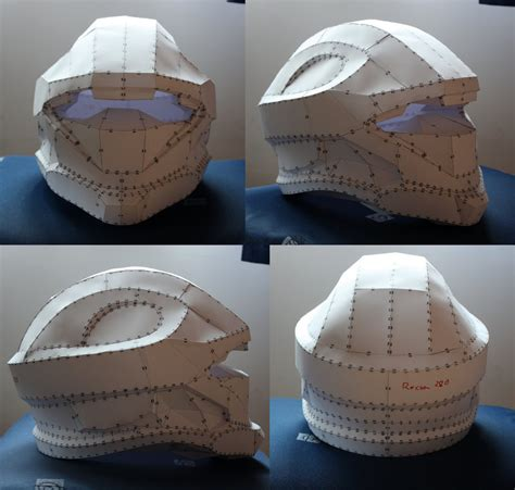 Papercraft Halo Helmet - halo 3 recon pepakura helmet by xxlunexx on deviantart