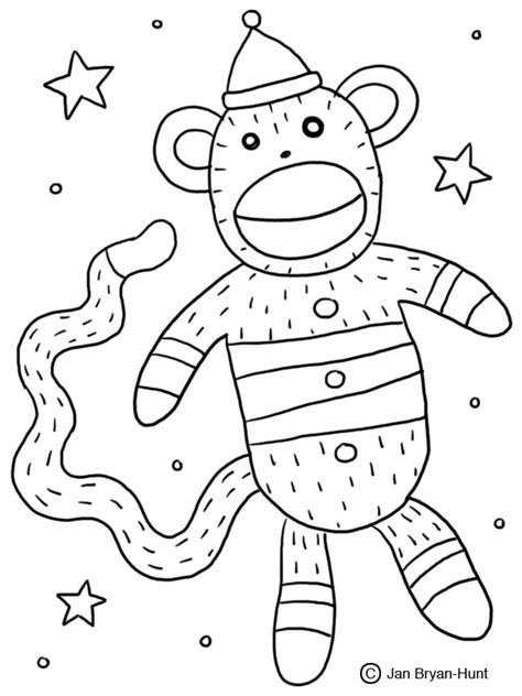 coloring pages of sock monkey sock monkey coloring page 29918 bestofcoloring com