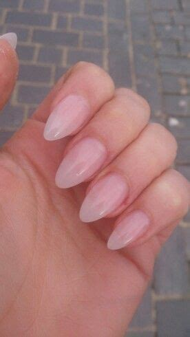 short coffin nails with a natural look essie s quot ladylike natural acrylic almond nails nails pinterest almond