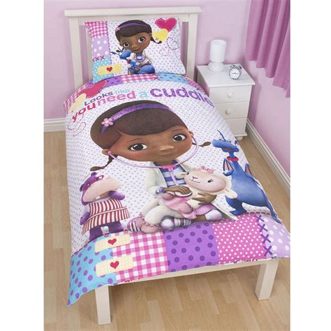 Dr Mcstuffins Bed Set Doc Mcstuffins Patch Duvet Cover Official New Disney Ebay