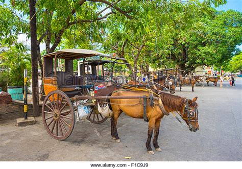 philippine kalesa philippines horse drawn carriage kalesa stock photos