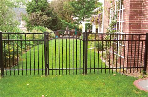backyard fencing aluminum fences here s an affordable backyard alumi