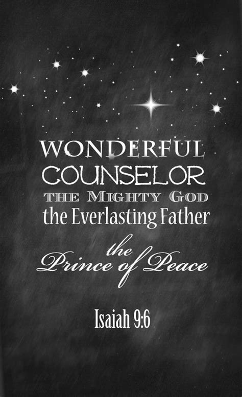 printable quotes about god isaiah 9 free christmas printable counseling peace and