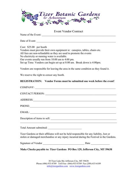 event vendor application template event vendor contract template portablegasgrillweber