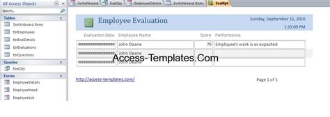 access employee database templates for ms access 2013 and