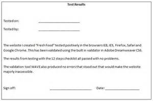 sign template for testing test results and sign sheet exles kjlbrooks