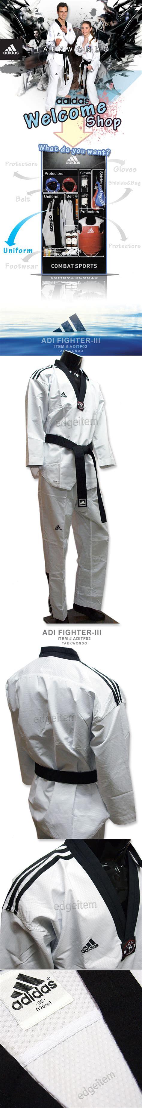 Dobok Adidas Fighter New Iii adidas adi fighter new 3 stripe taekwondo dobok tkd tae kwon do ebay