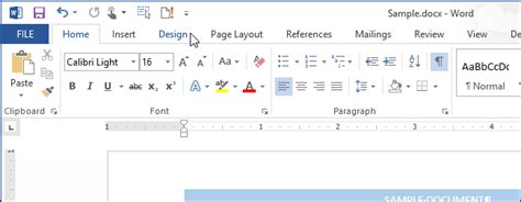 design tab meaning how to add a border to an entire page in word