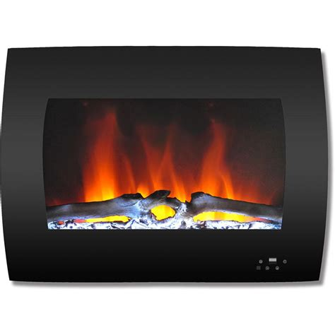 fireplace display cambridge 26 in curved wall mount electric fireplace in