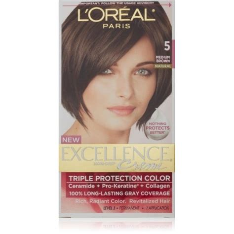 loreal excellence creme hair colour l oreal excellence creme hair color 5 medium brown
