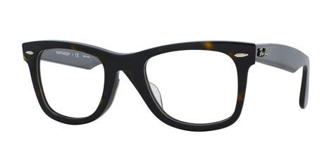ban rx5121f wayfarer alternate fit eyeglasses