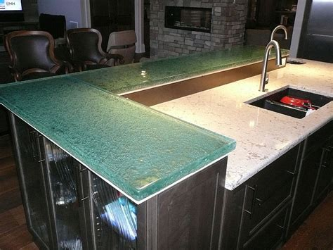 Glass Bar Top by The Uses Benefits Of Raised Glass Countertops Cbd Glass