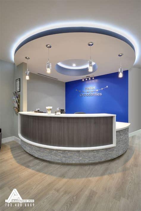 Dental Reception Desk Designs Blue And Modern Reception Desk Dental Office Design By Arminco Inc Ceiling Clouds