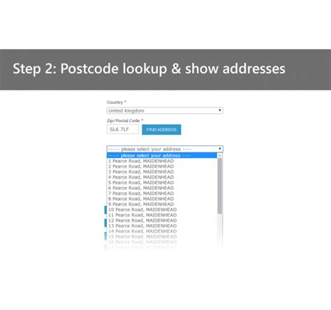 Address Finder Uk By Postcode Uk Postcode Lookup Address Finder Magento Connect