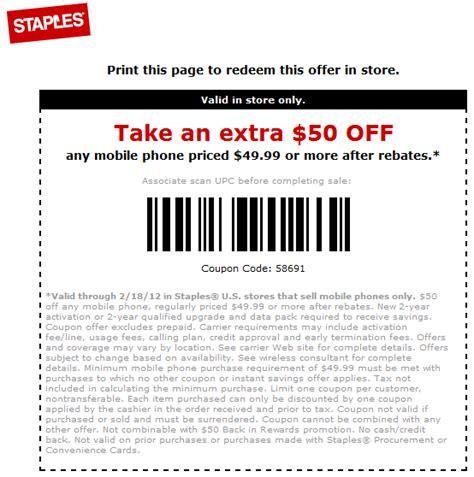 printable mobile grocery coupons staples 50 off mobile phone printable coupon