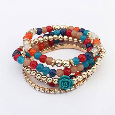 Set Kalung Anting Korean Fashion Multilayer Design Studs Earring Necklace Jewelry Set Green pretty multicolor decorated shape multilayer design acrylic korean fashion bracelet