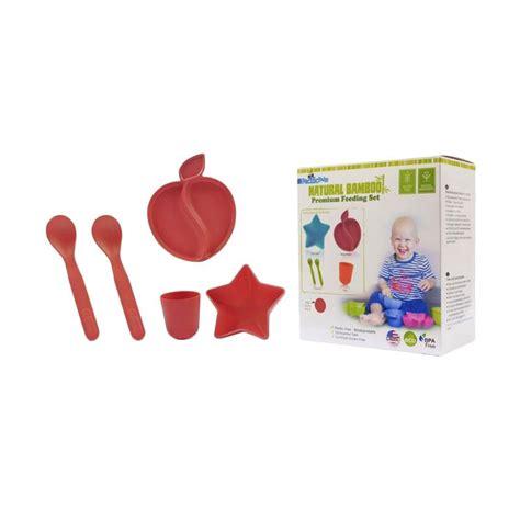 Perlengkapan Makan Baby jual pacific baby premium feeding set peralatan makan anak
