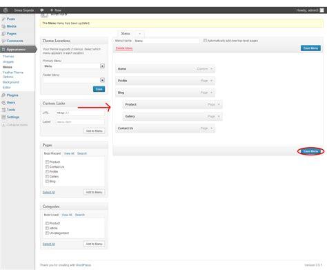 membuat web email belajar membuat website untuk pemula step 4 mengatur menu