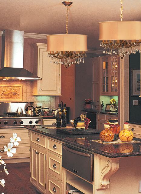 Kitchen Chandeliers Traditional Brentwood Chandelier In Kitchen Traditional Kitchen New York By We Got Lites