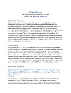 william mcguyer gis analyst resume 2015 newest - Gis Analyst Resume Sle