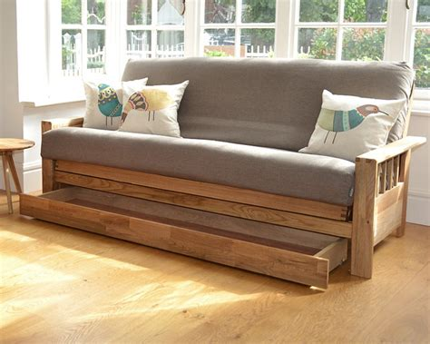 Sofa Bed With Storage Drawer Wide Bed Drawer Futon Company