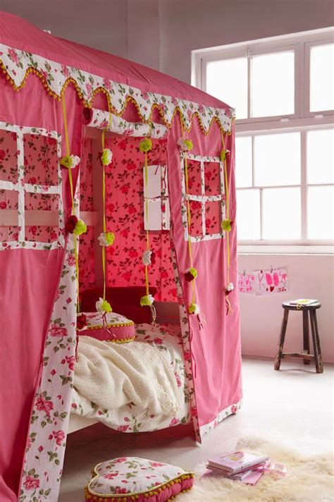 girls canopy bed creating magical spaces for kids at home