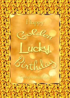Golden Birthday Card Happy Golden Birthday Lucky Golden Design Card