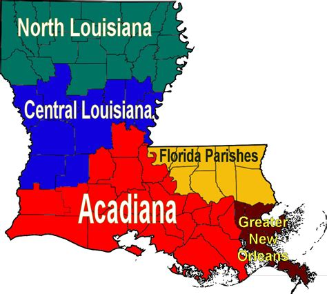 Maps Louisiana by File Louisiana Regions Map Png Wikimedia Commons